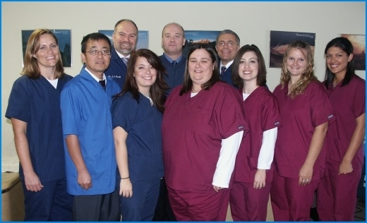 Chiropractor Lafayette IN Anthony Pacelli with staff